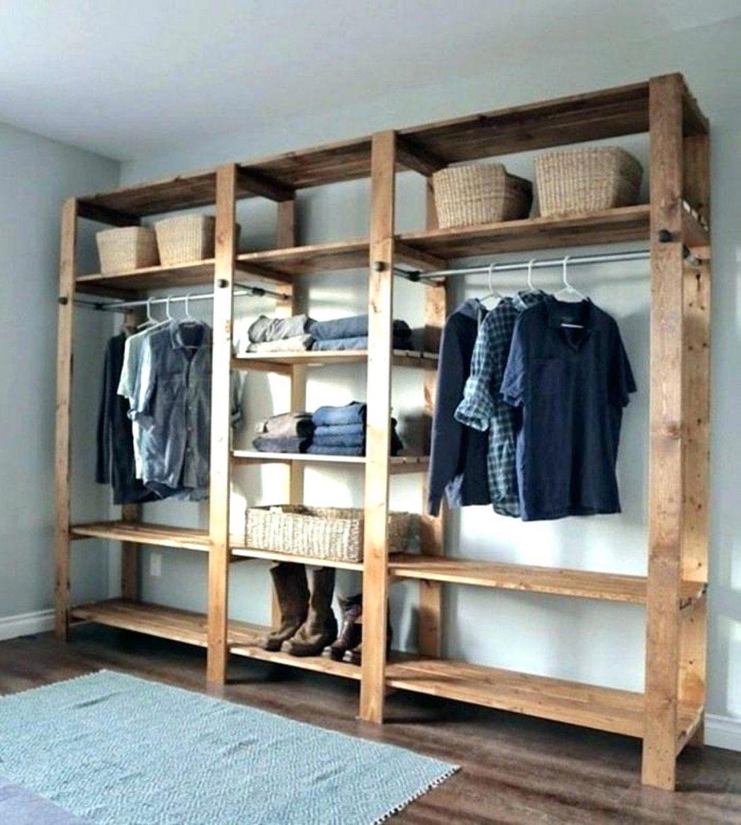 Ankleidezimmer Gestalten Cool Kleiderschrank Selbst Offener Ikea von Schrank Ideen Selber Machen Bild