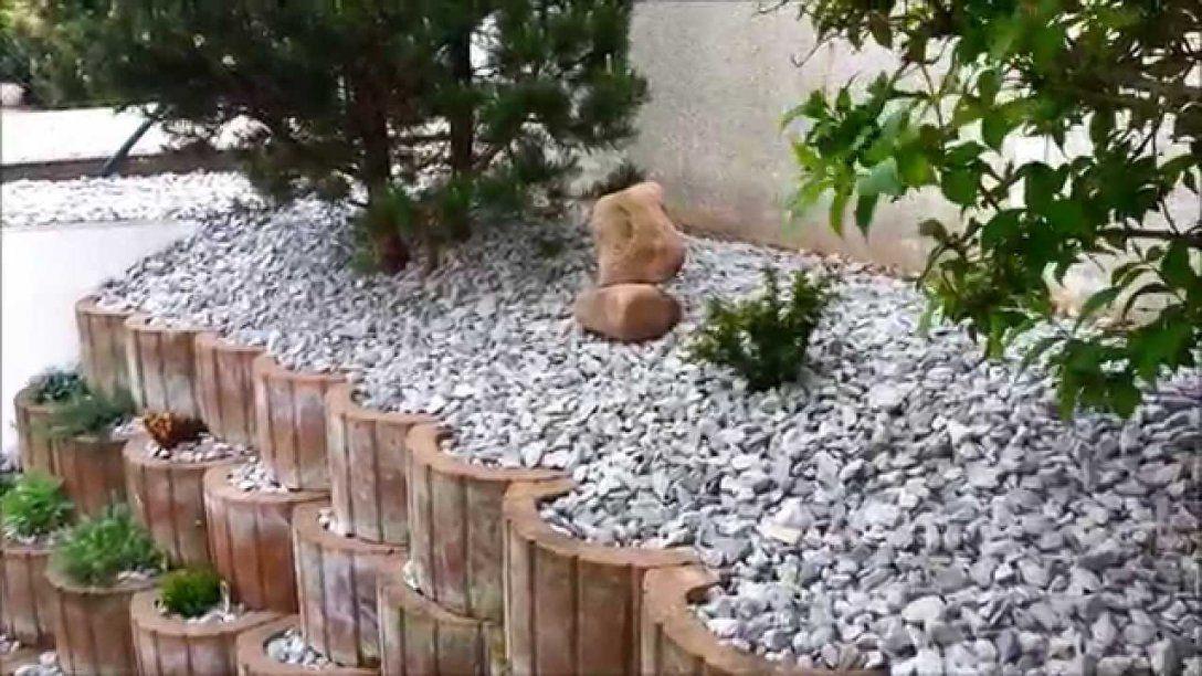 Anlegen Eines Steingarten Teil2  Youtube von Steingarten Anlegen Mit Vlies Bild