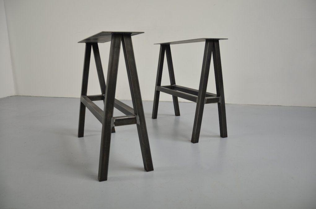 Anleitung Designer Schreibtisch Auf Tischböcken  Tischblog von Schreibtisch Selber Bauen Hornbach Bild