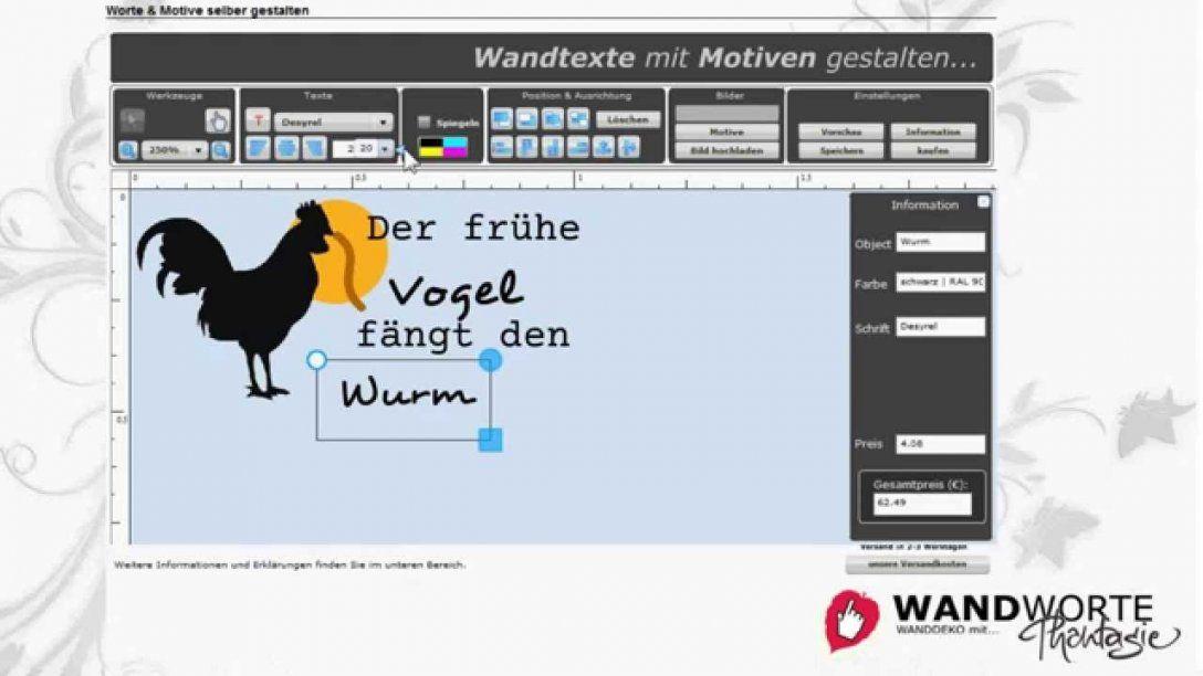 Anleitung Wandtattoos Selber Gestalten Bei Wandworte  Youtube von Wandtattoo Selber Gestalten Mit Fotos Photo
