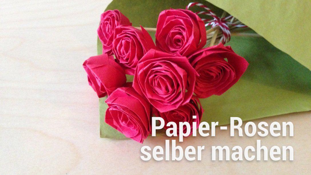 Anleitung Zum Falten Von Papierrosen  Youtube von Rose Basteln Papier Anleitung Bild