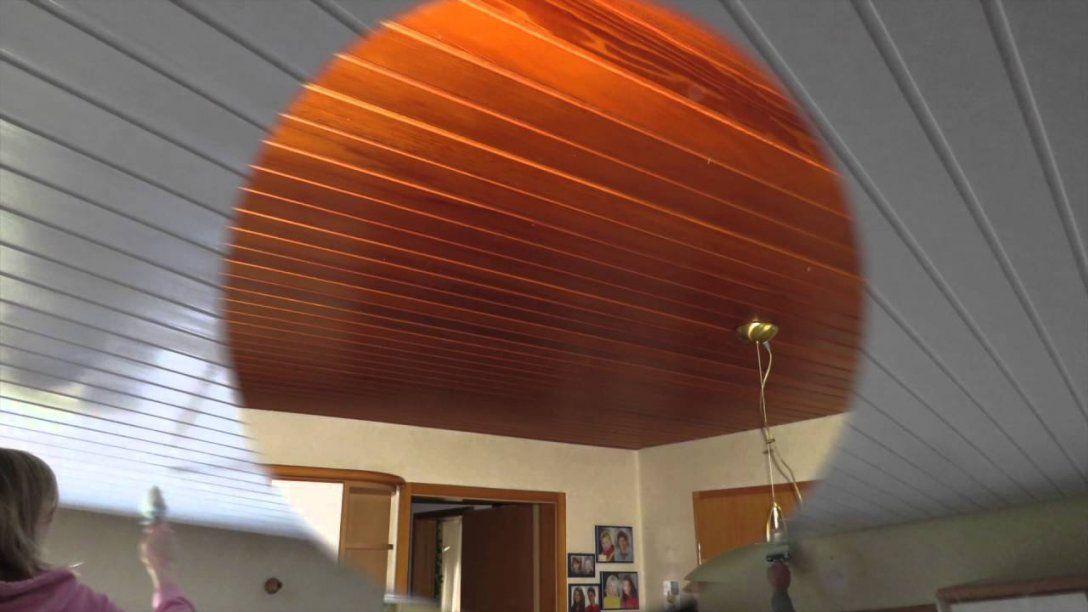 Anstrich Einer Holzdecke  Youtube von Holzdecke Streichen Ohne Abschleifen Photo