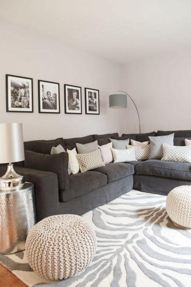 Anthrazit Couch Und Rosa Kissen New Kuhles Raumgestaltung Farbe von Anthrazit Couch Wohnzimmer Farbe Photo