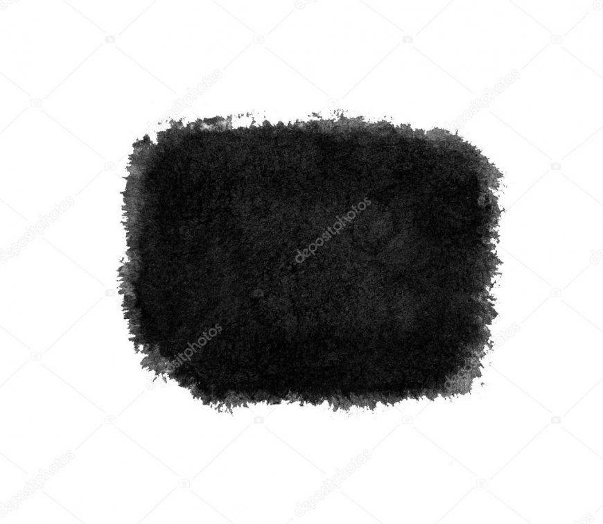 Aquarell Schwarzweiß Gemalten Strich Isoliert — Stockfoto © Binik1 von Gemalte Bilder Schwarz Weiß Bild
