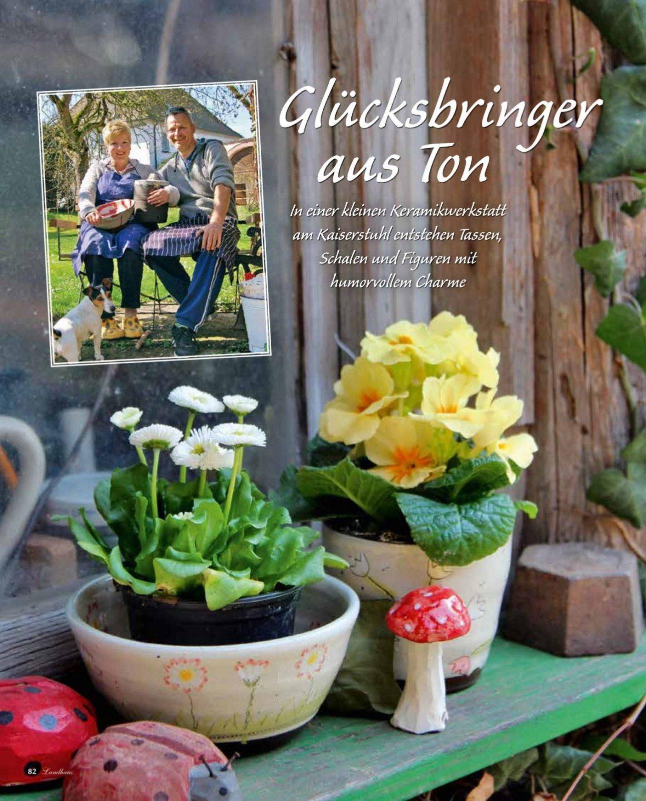 """Artikel In """" Wohnen & Garten Landhaus""""  Toepferei Wiest Nimburg von Landhaus Wohnen Und Garten Photo"""