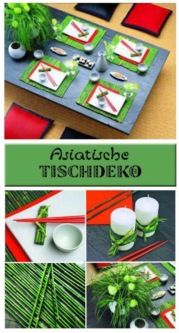 Asiatische Tischdeko  Asiatisch Tisch Und Tischdekorationen von Asiatische Deko Selber Machen Photo