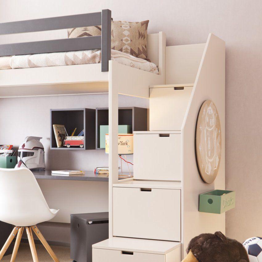 Asoral Hochbett Loft Xl Liso Mit Treppe Schreibtisch 4 Stauraum von Hochbett Mit Treppe Und Schreibtisch Bild
