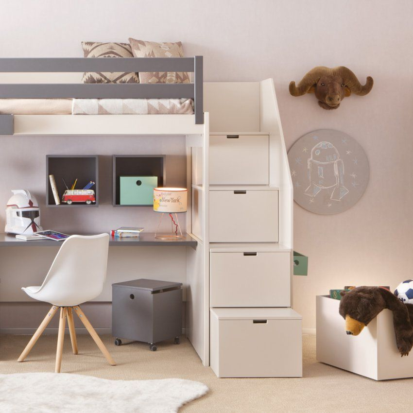 Hochbett Treppe Mit Stauraum Haus Design Ideen