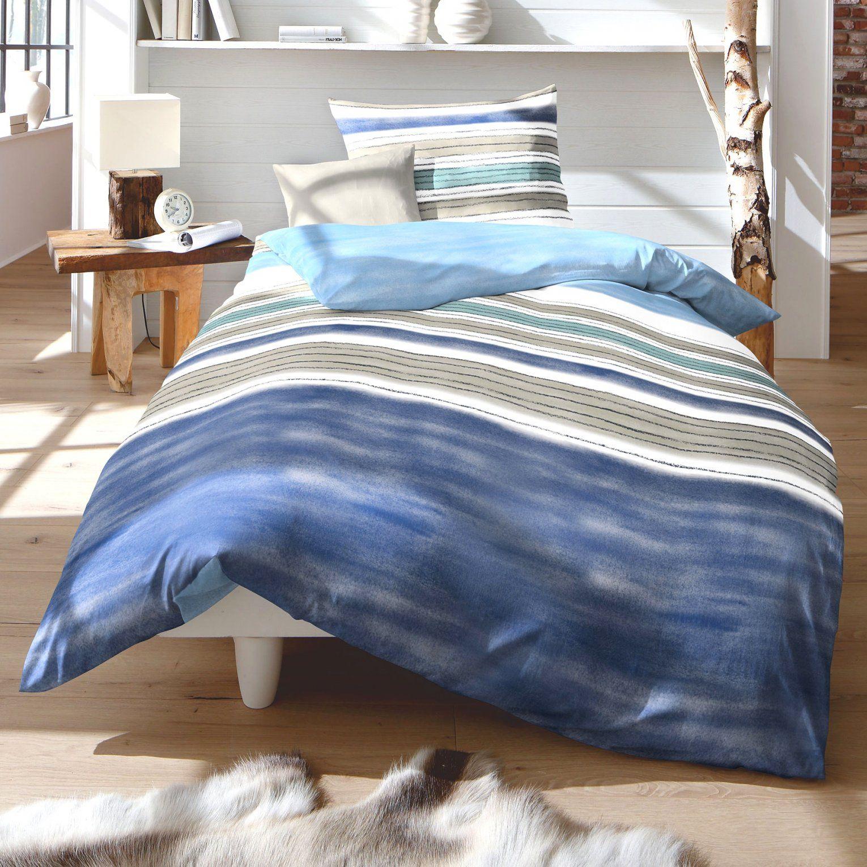 Ästhetische Ideen Biber Bettwäsche Blau Und Tolle Fleuresse Davos von Mann Mobilia Bettwäsche Bild