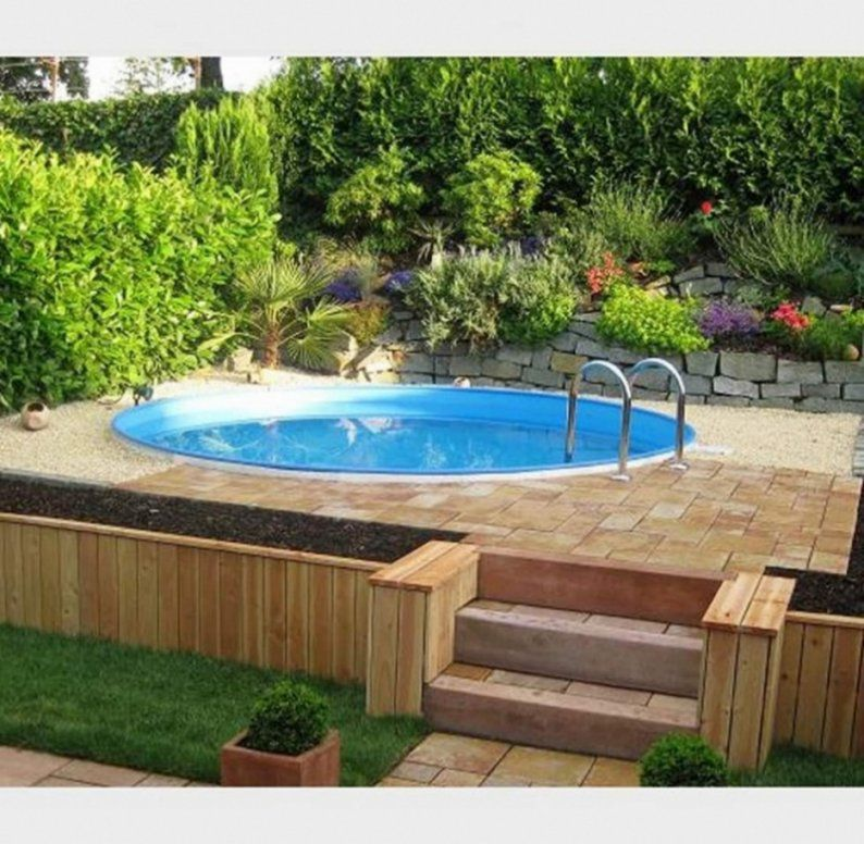 Atemberaubend Wunderbare Dekoration Schone Pool Im Kleinen Garten von Kleiner Pool Im Garten Selber Bauen Photo