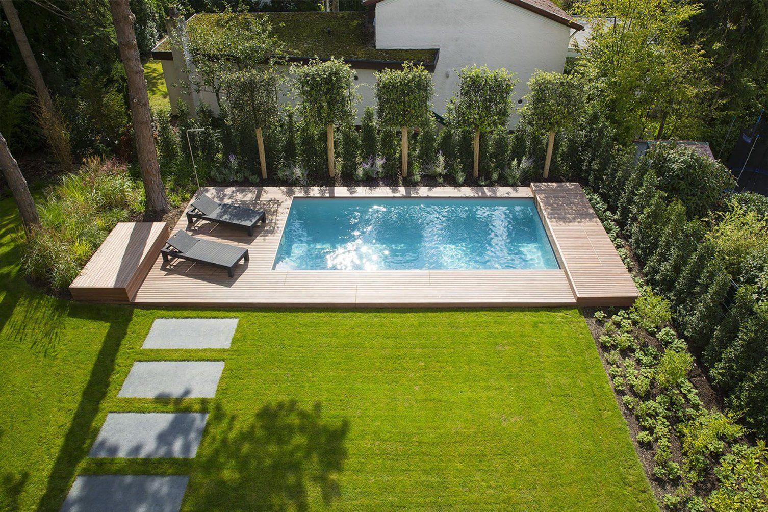 Auch Wer Über Wenig Platz Verfügt Oder Auch Ein Kleines Budget Zur von Kleiner Pool Im Garten Selber Bauen Photo