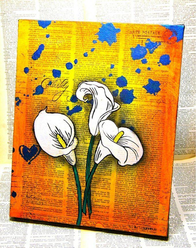 Auf Leinwand Malen  37 Originelle & Einfache Ideen Mit Anleitung von Acrylbilder Selber Malen Für Anfänger Bild