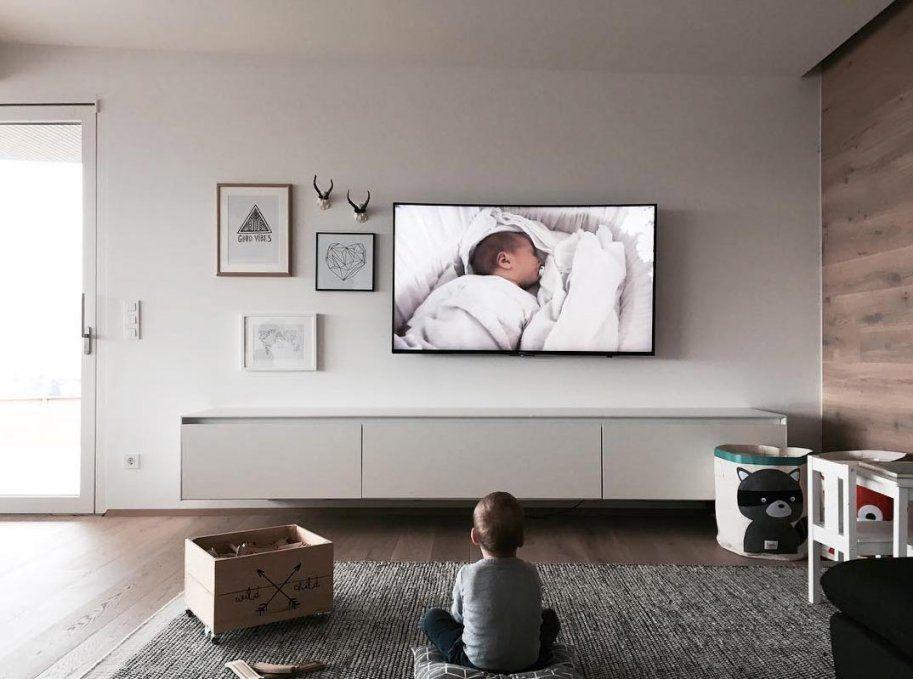 Auf Welche Höhe Hängt Man Den Fernseher Jetzt Tipps Lesen von Tv An Wand Befestigen Bild