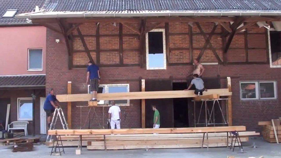 Aufbau Der Unterkonstruktion Balkon  Youtube von Balkon Aus Holz Selber Bauen Photo