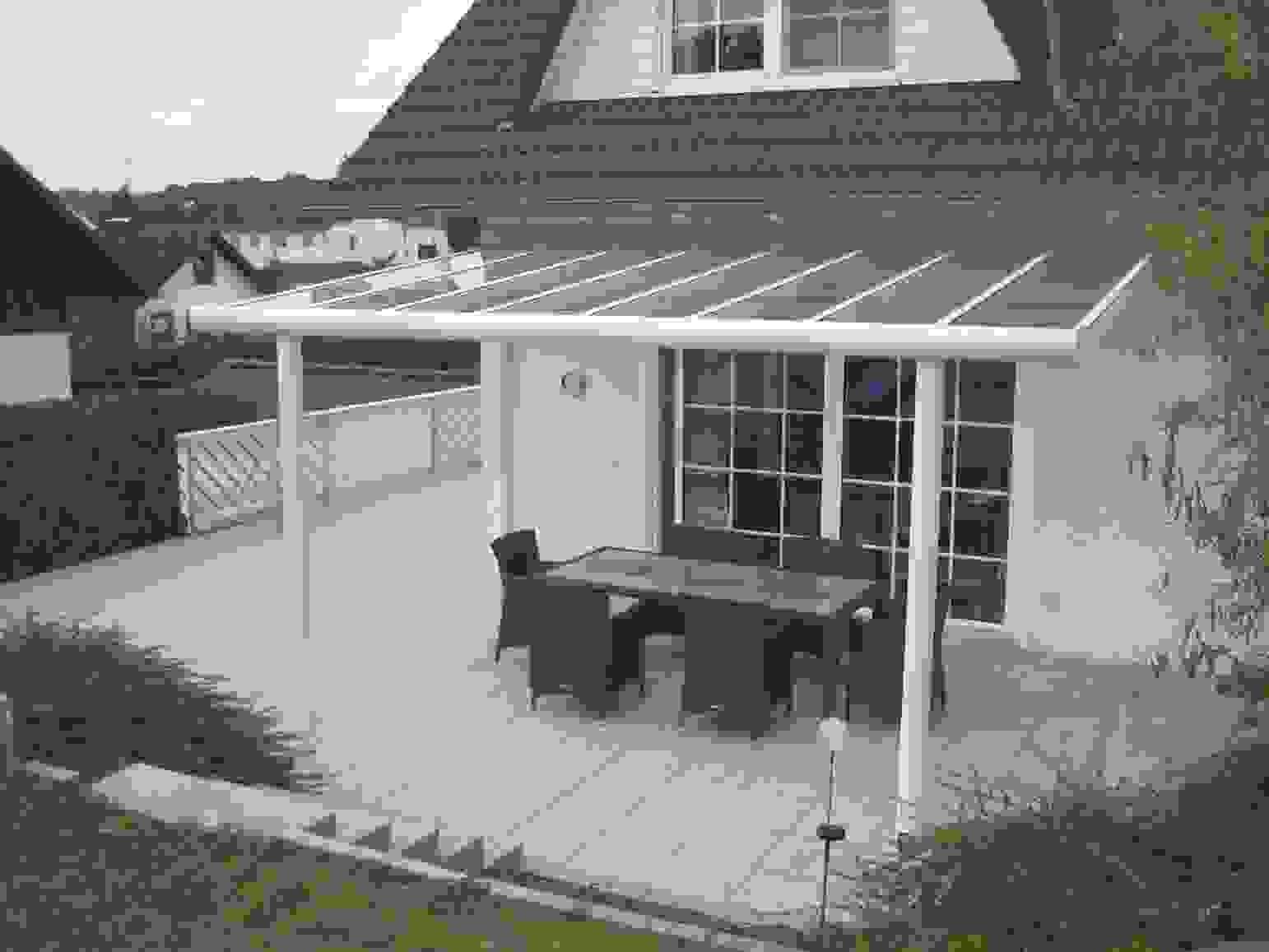 Aufbau Einer Leimholz Terrassenüberdachung For Selbst Ist Frisch von Terrassenüberdachung Günstig Selber Bauen Bild
