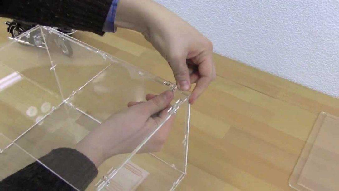 Aufbauanleitung Acrylhaube  Youtube von Plexiglas Vitrine Selber Bauen Bild