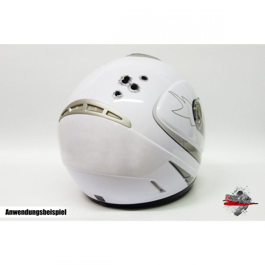 Aufkleber 3D  Einschusslöcher  Transparent  Für Auto  Motorrad von Helm Aufkleber Selber Gestalten Photo