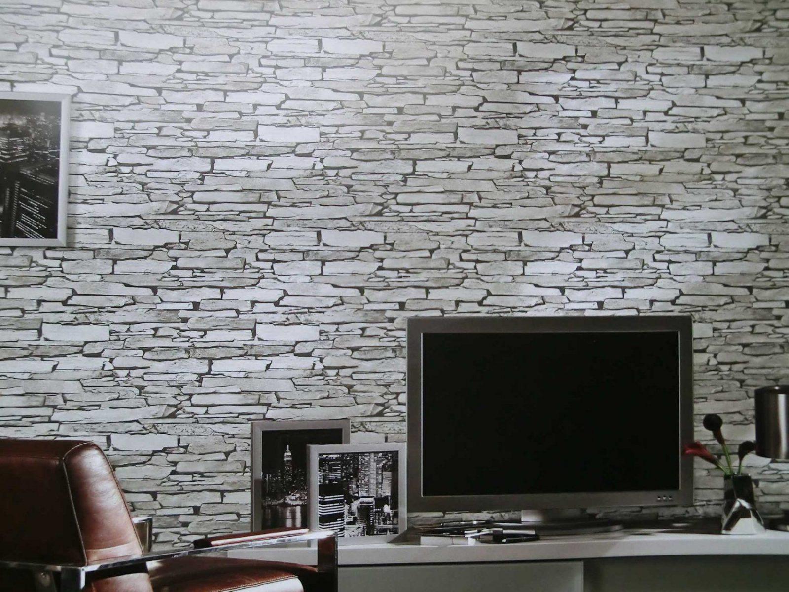 Aufregend Küchen Inspiration Zum Tapeten Wohnzimmer Schön Emejing von Tapete Steinoptik Wohnzimmer Grau Bild