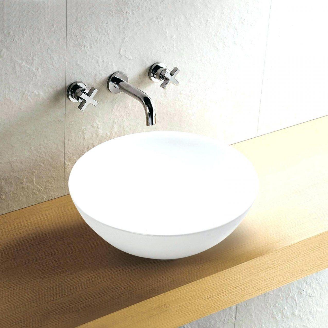 Aufsatzwaschtisch Rund Aufsatzwaschbecken Aufsatz Keramik von Waschbecken Rund 30 Cm Bild