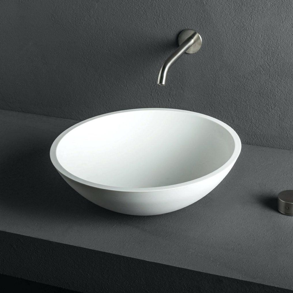 Aufsatzwaschtisch Rund Aufsatzwaschbecken Aus Corianar Modern Cup 38 von Waschbecken Rund 30 Cm Photo