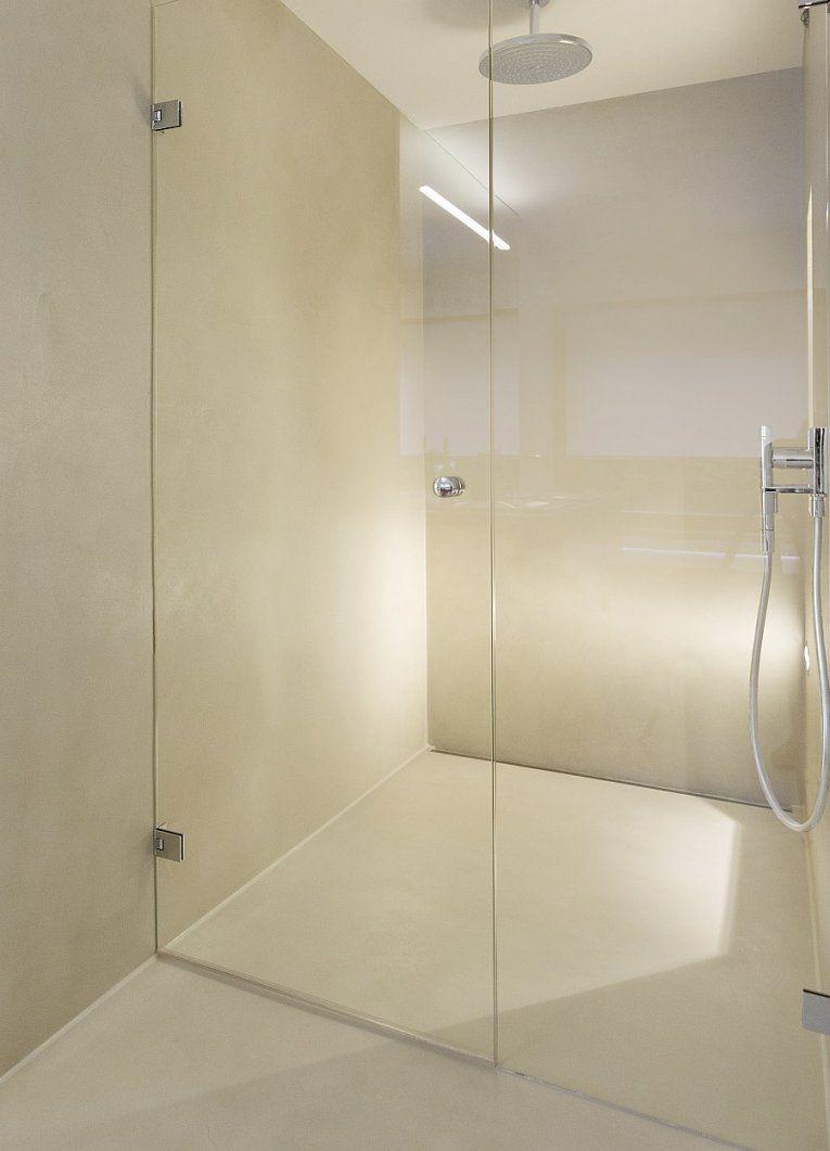 """Aus Einem """"guss"""" Nahtlose Flächen Mit Mineralstoffen  Bulling  Bad von Dusche Wandverkleidung Ohne Fugen Bild"""