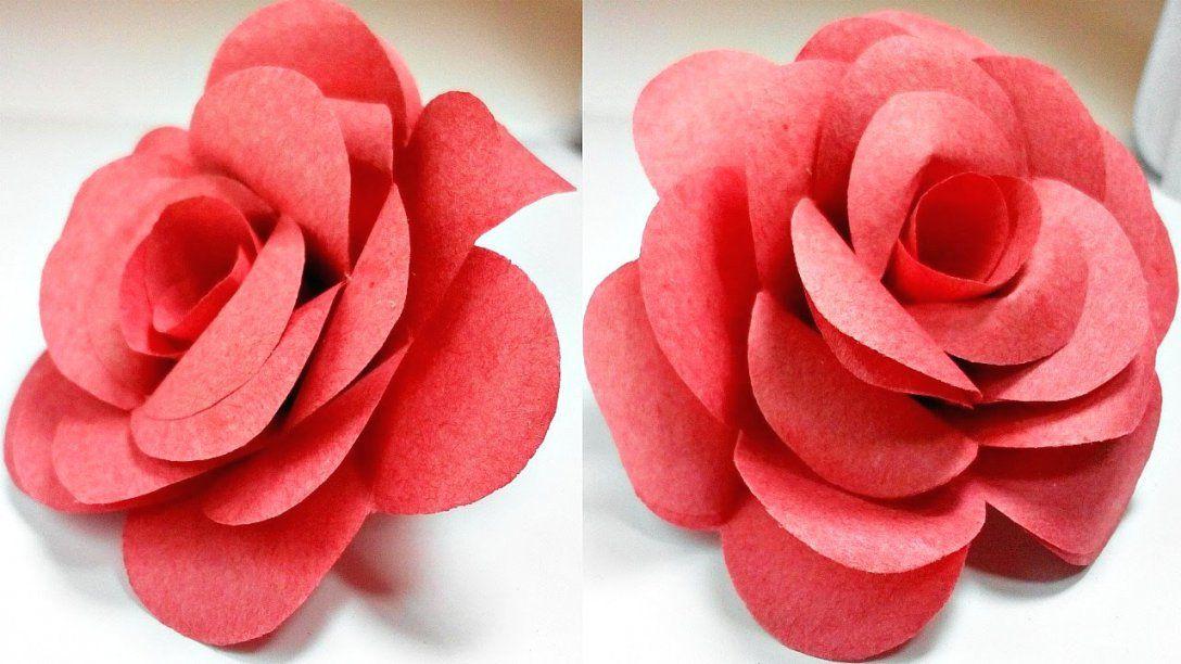 Aus Papier Falten Einfach Basteln Machen Selber Basteln Avec Avec von Rose Basteln Papier Anleitung Photo