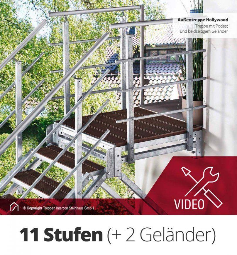 Außentreppe Selber Bauen  Außentreppe Hollywood Bausatz von Außentreppen Stein Selber Bauen Bild