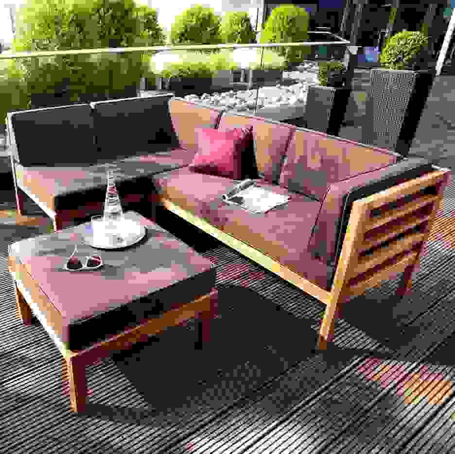 Ausgezeichnet Loungemöbel Holz Outdoor Amazing Loungemobel Garten von Loungemöbel Für Kleinen Balkon Bild