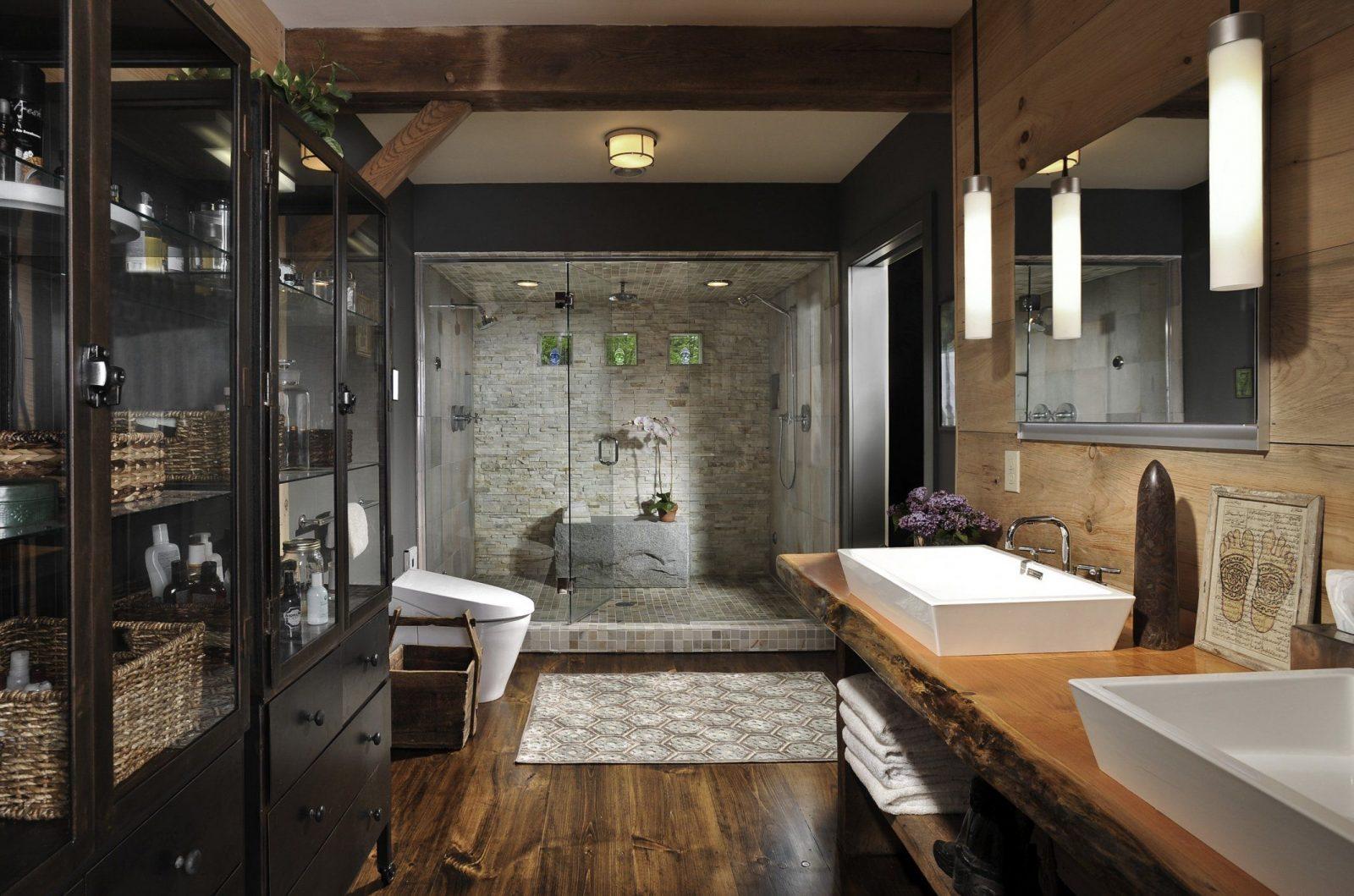 Ausgezeichnet Moderne Bäder Mit Holz Auf Modern Badezimmer Im von Moderne Bäder Mit Holz Bild