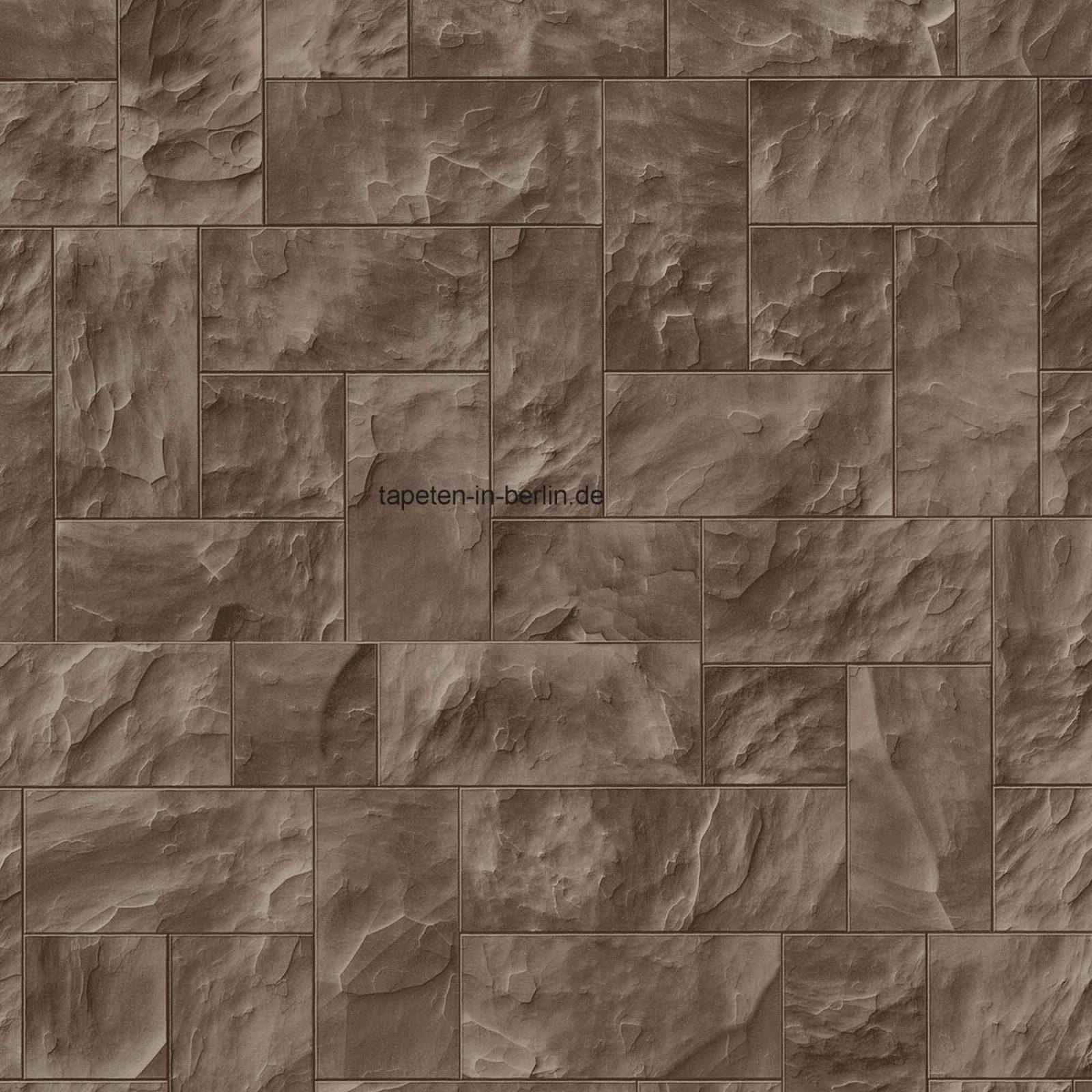 Awesome Steintapeten In 3D Optik Grau Beige Braun Wohnzimmer von Steintapeten In 3D Optik Bild