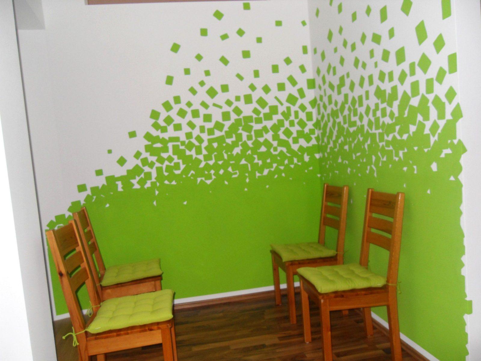 Awesome Wand Streichen Muster  Homemaison von Wand Streichen Muster Abkleben Bild
