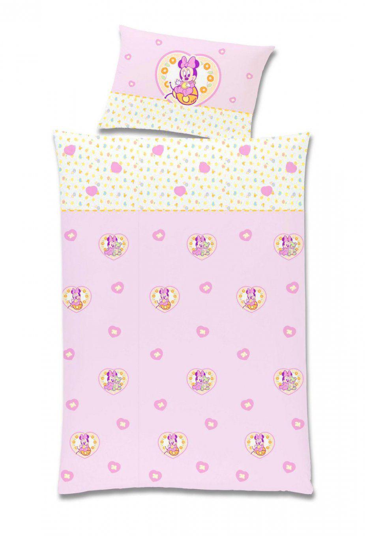 Baby Bettwäsche  Kinderbettwäsche Renforce 100X135 Minnie Mouse Art von Minnie Maus Bettwäsche 100X135 Bild