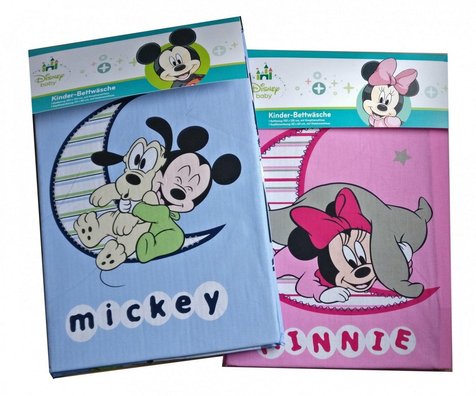 Baby Kinder Bettwäsche Disney Minnie & Mickey Mouse Bezug von Baby Bettwäsche Mickey Mouse Bild