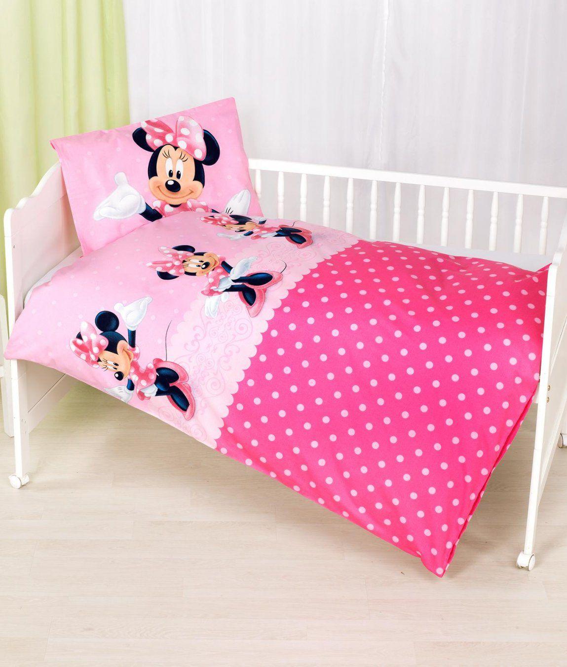 Babybettwäsche Garnitur Minnie Mouse Kaufen  Angela Bruderer von Bettwäsche Minnie Maus Bild