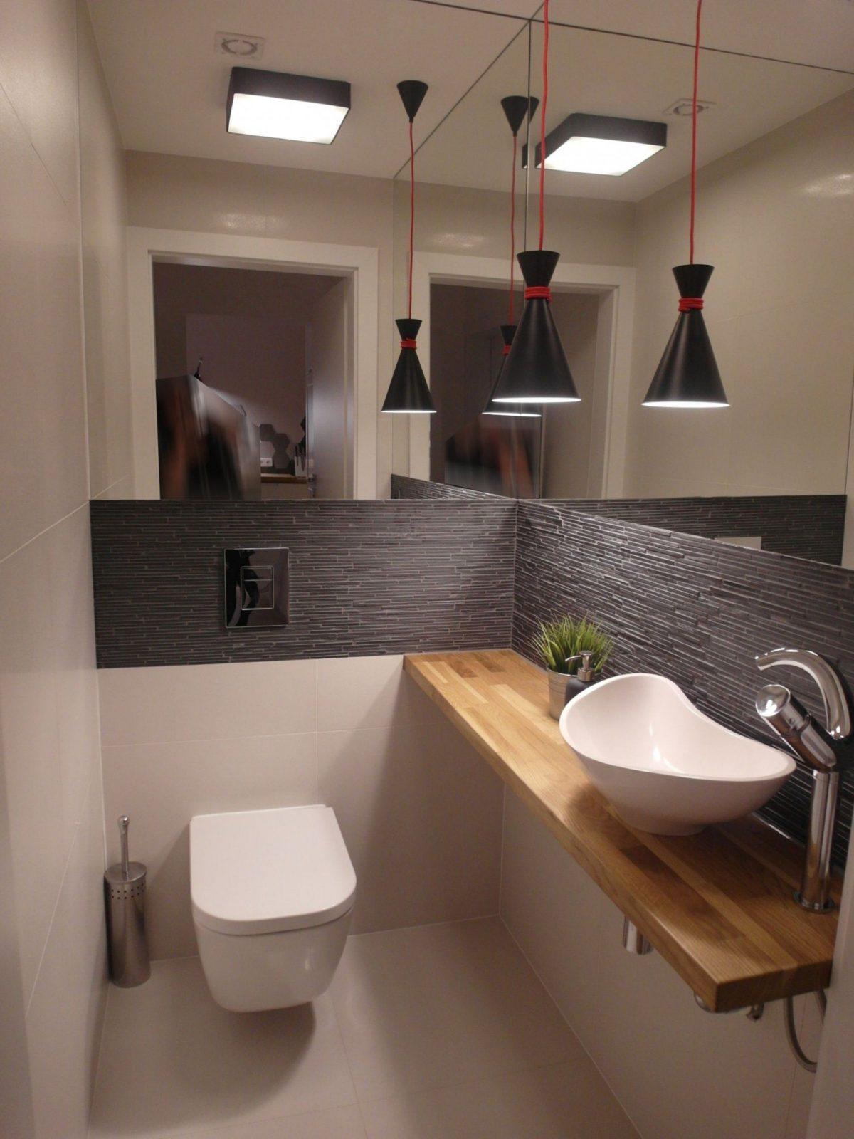 Bad Gäste Toilette Modern Wohnen Hausbau  Идеи Для Дома von Gäste Wc Ideen Modern Photo