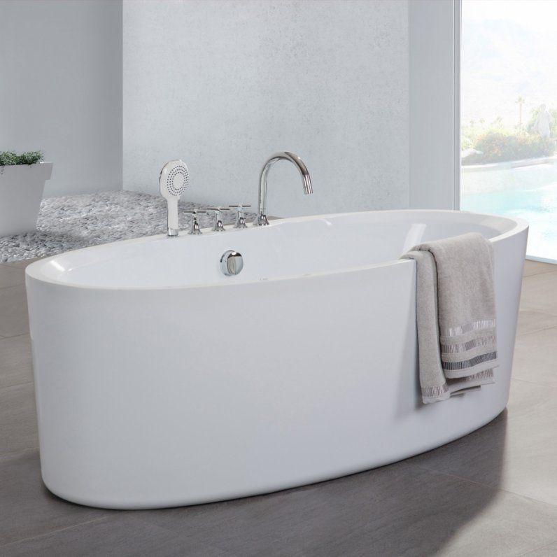 Badezimmer  20 Bilder Freistehende Badewanne Mit Integrierter von Badewanne Mit Integrierter Armatur Bild