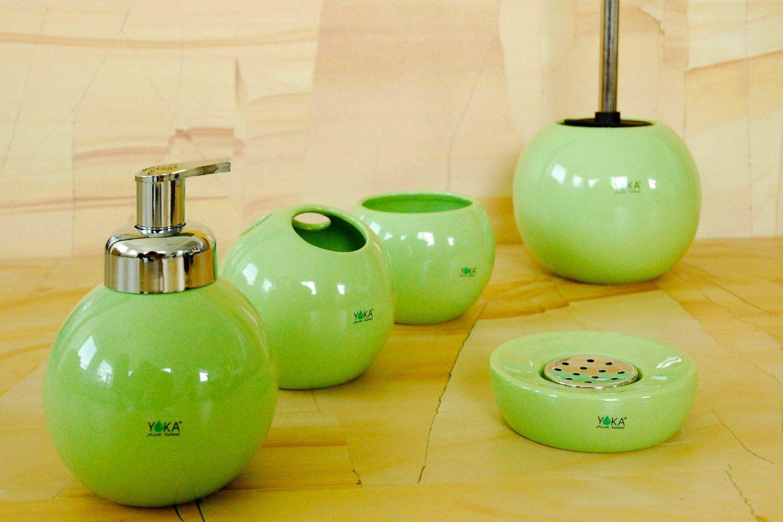Badezimmer Design Anmutig Badezimmer Zubehör Set Design Beliebt von Badezimmer Accessoires Grün Photo