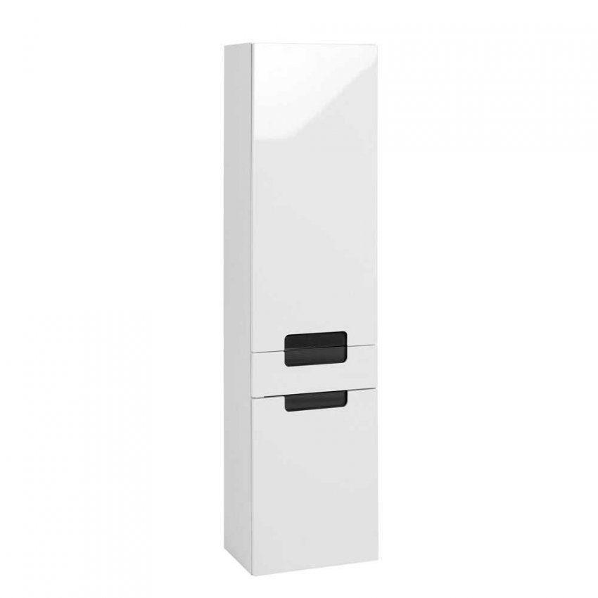 Badezimmer Hochschrank Select In Weiß Hochglanz Pharao24 von Badezimmer Hochschrank Weiß Hochglanz Bild