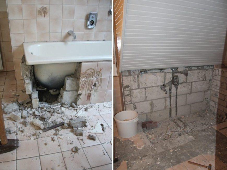 Badezimmer Renovieren Vorher Nachher Schön Altes Badezimmer von ...