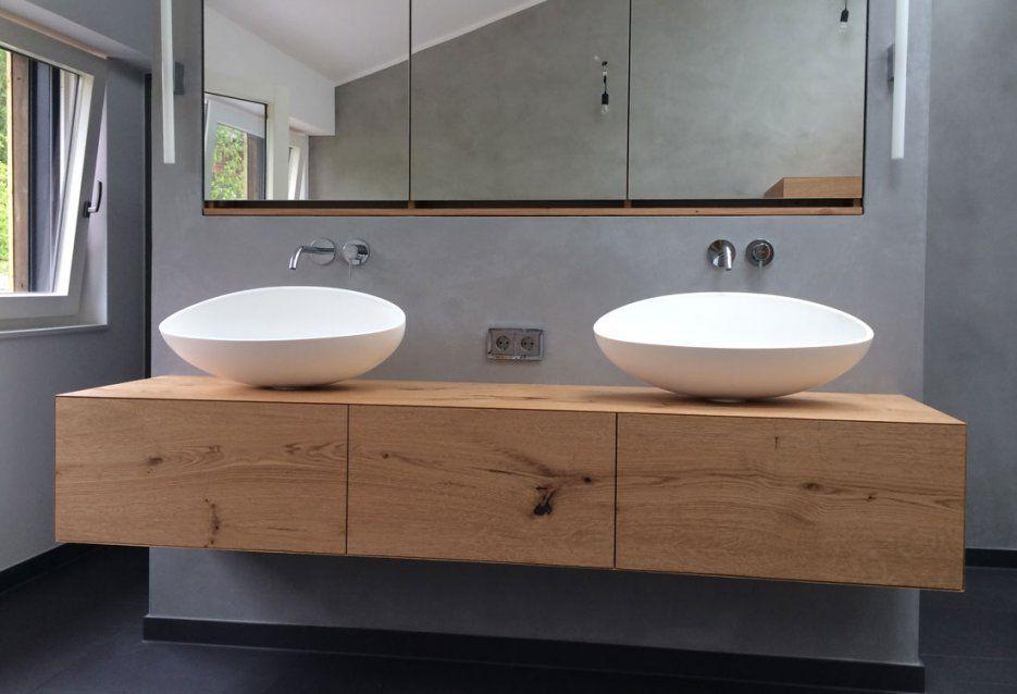 Badezimmer Unterschrank Hängend von Doppeltes Waschbecken Mit Unterschrank Photo