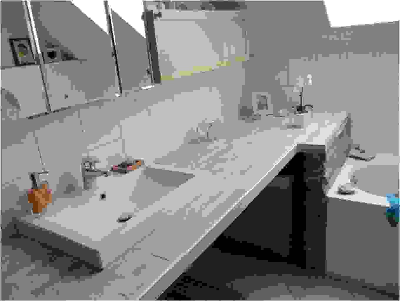 Badezimmer Waschtisch Selber Bauen  Design von Waschtisch Selber Bauen Bauplatten Bild