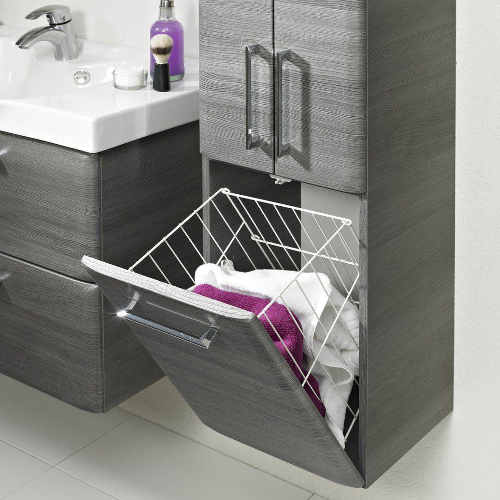 Badezimmermöbel Mit Integriertem Wäschekorb  Icnib von Badschrank Mit Integriertem Wäschekorb Bild