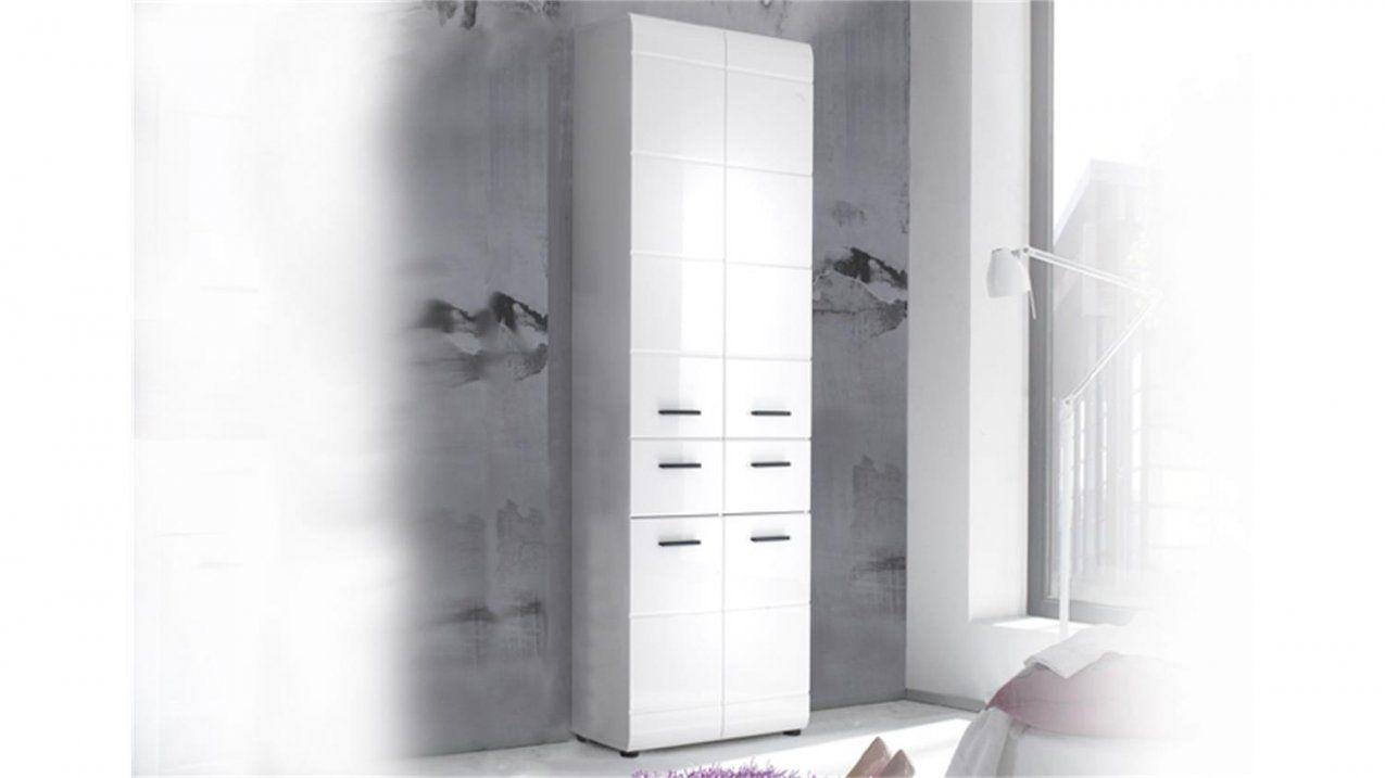 Badschrank Hochschrank 105 Skin Front Weiß Hochglanz 4Türig von Badezimmer Hochschrank Weiß Hochglanz Photo