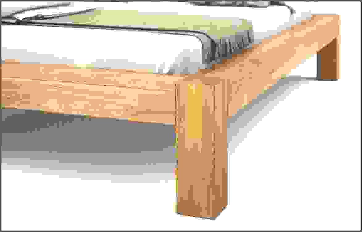 Balkenbett Verbindung Balken Fusse Von Bett Aus Balken Selber Bauen