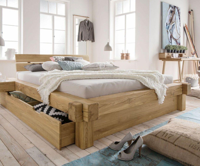 Balkenbetten Und Betten In Balkenoptik Kaufen  Betten von Bett Aus Alten Balken Bild