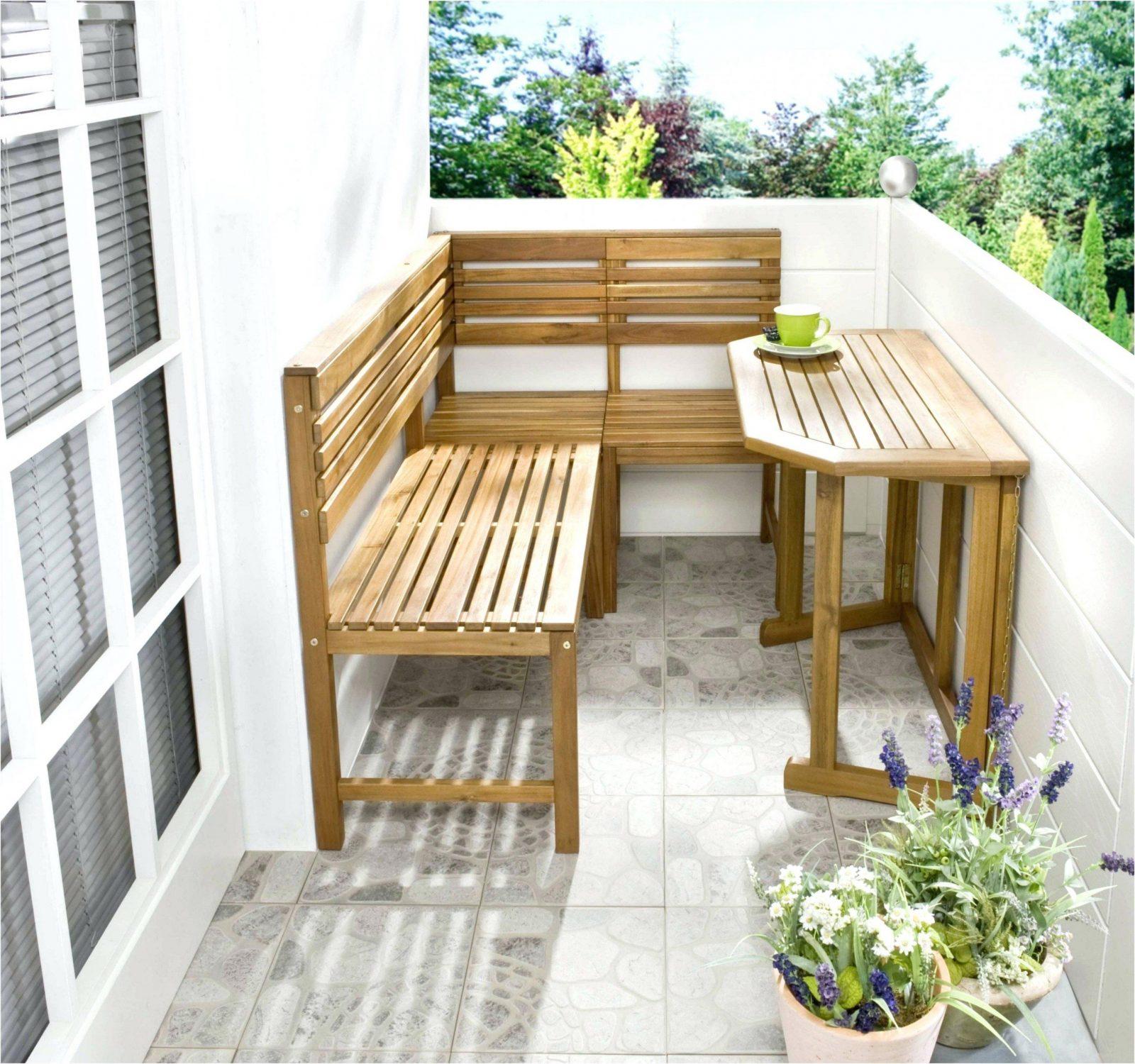 Balkon Eckbank Aus Paletten Mit F R Selber Bauen A Lounge Tchibo von Balkon Eckbank Mit Tisch Bild