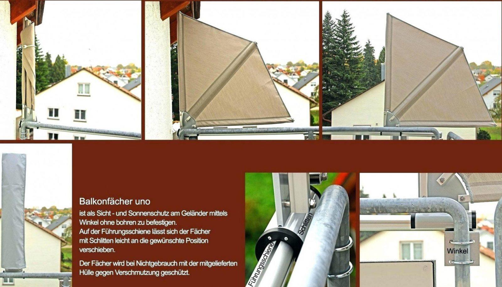 Balkon Seitensichtschutz Sonnensegel Selber Machen Hervorragend von Balkon Seitensichtschutz Ohne Bohren Photo