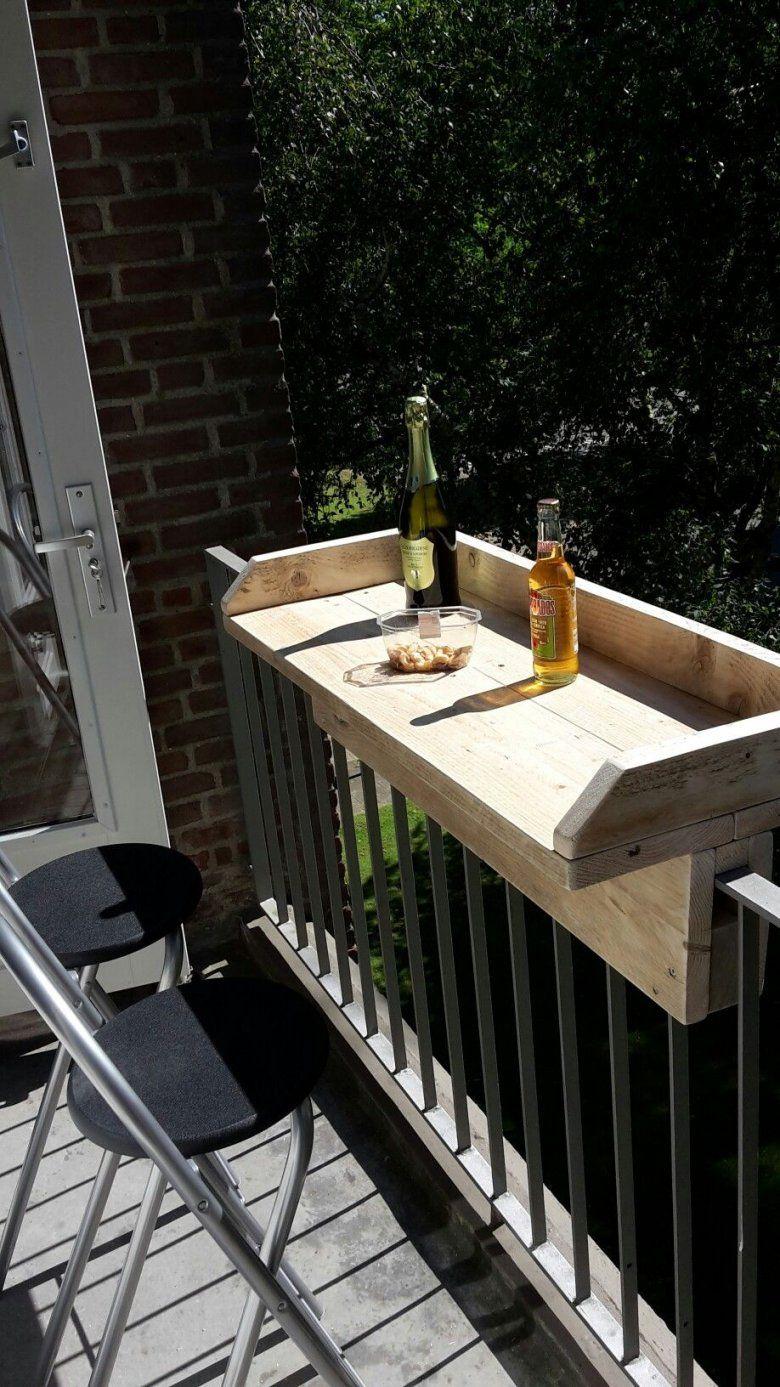 Balkonbar Klein Balkon Idee Steigerhout Projekt Pinterest Von Balkon