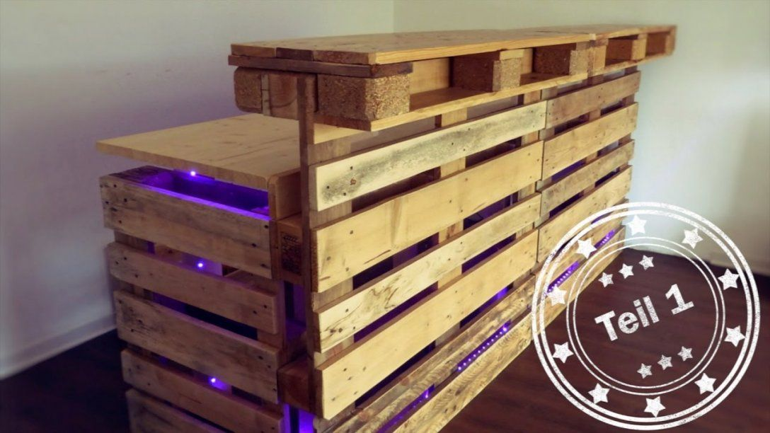 Bar Selber Bauen (Aus Europaletten)  Teil 1  Youtube von Bar Aus Paletten Anleitung Bild