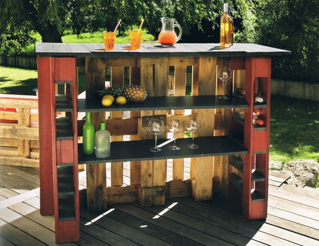 Bar Selber Bauen von Bar Aus Paletten Anleitung Photo